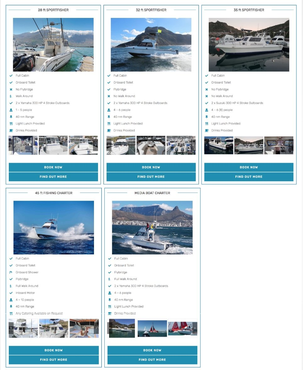 deep sea fishing charter boats cape town fishing boats 1