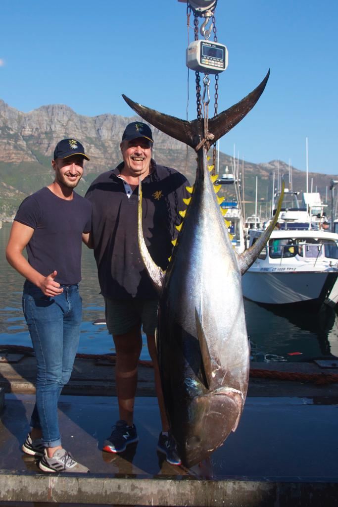 Deep Sea Fishing for Yellowfin Tuna - Cape Town Fishing Charter Company