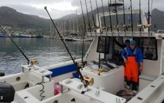Longfin Tuna fishing cape town aboard ocean warrior