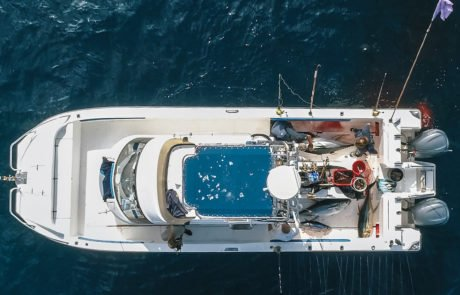 deep sea fishing charters - Hooked on africa boat drone footage 1- Staples Productions copy