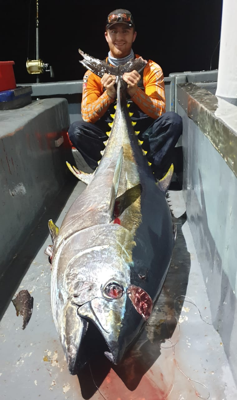 hooked on africa fishing charters cape town south africa 120 kg yellowfin tuna fishing