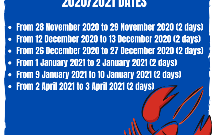 crayfishing dates western cape 2020 2021 - crayfishing cape town