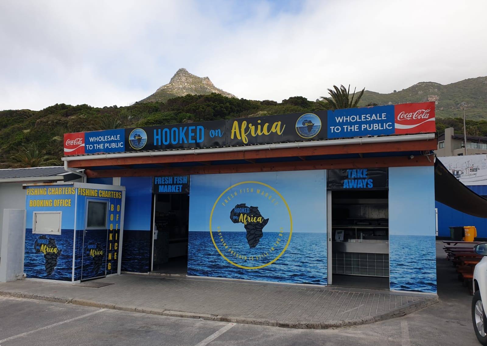hooked on africa fresh fish market hout bay shop front